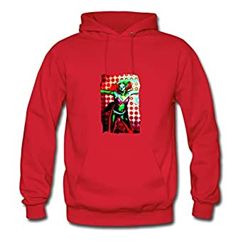 "Different Off-the-record Customizable Long-sleeve Ad ""aaaaa"" Women X-large Red Hoody"