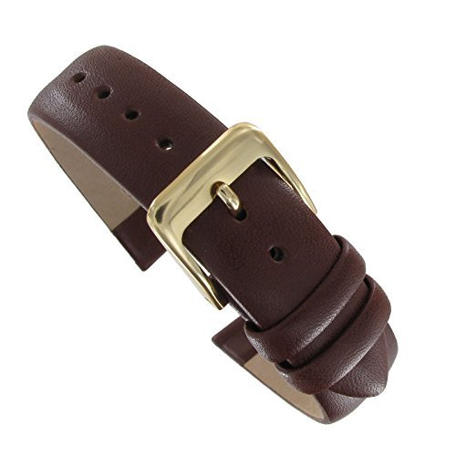 19mm Brown Leather Luxury Calf Leather Watch Band replacement Long
