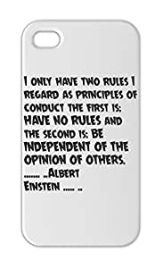 I only have two rules I regard as principles of conduct the Iphone 5-5s plastic case