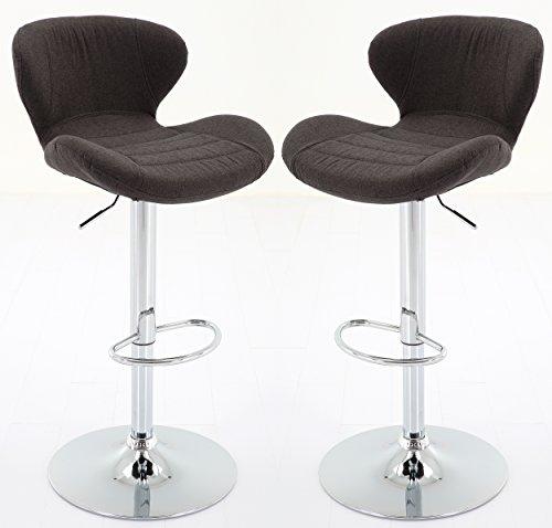 Vogue Furniture Direct Adjustable Upholstered Barstool, Black-VF1581027 (Set of 2) (And Furniture Stools Bar Set)