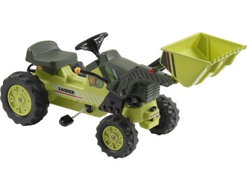 MotoTec KL-50001B Kalee Pedal Tractor with Loader Green