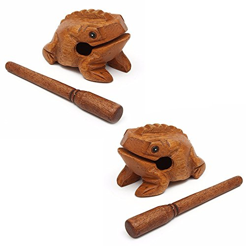 2pcs. Miniatures Lucky frogs Traditional Craft Wooden size 704550mm. Home Decorative item