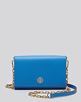 Tory Burch Robinson Chain Wallet - Windsor Blue