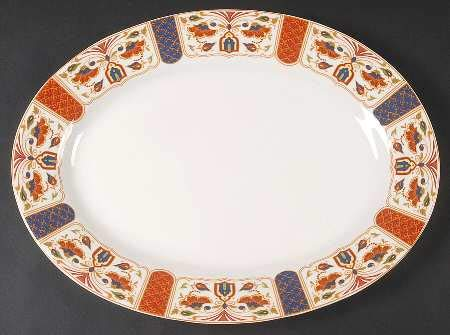 Queens China Imari Oval Platter 15