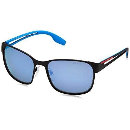 07b745ce32 Prada Linea Rossa 0PS 52TS, Gafas de Sol para Hombre, Black Rubber, 55