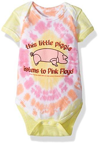 Rocks Baby Onesie T-shirt (Liquid Blue Baby Pink Floyd This Little Piggy Onesie, tie/dye 0-6 Months)