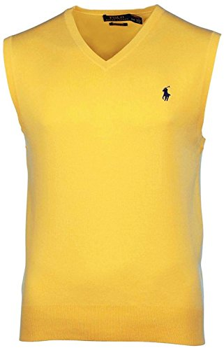 - Polo Ralph Lauren Big and Tall Mens Pima Cotton V-Neck Vest (Large Tall, Fall Yellow)