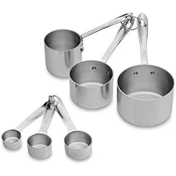All-Clad Stainless-Steel 6 pc. Odd-Size Measuring Cup & Spoon Combo Set