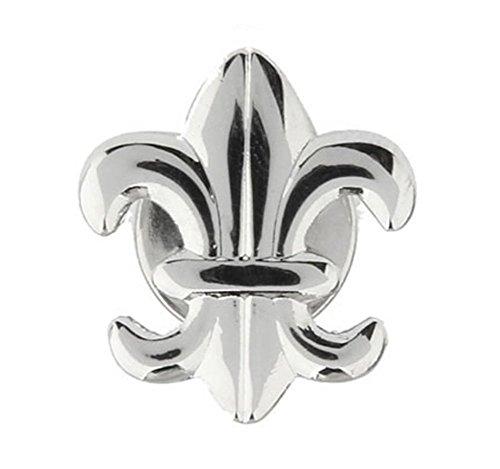 Fleur De Lis Tie Pin - Williams Mens Executive Lapel Pin Silver Tone Fleur di Lis Tie Tac Collector Pin