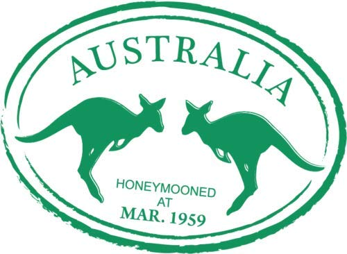 Crazy Discount Vinyl Sticker Decal Australia Passport Stamp Kangaroo for Windows Car Cell Phone Bumpers Laptop Wal, 5