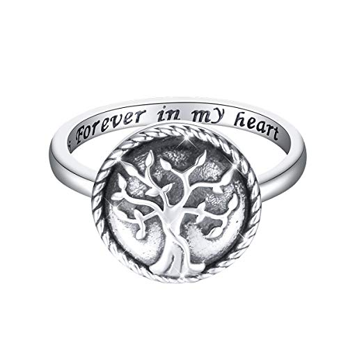 - S925 Sterling Silver Urn Memorial Ashes Keepsake Exquisite Cremation Ring for Women Jewelry