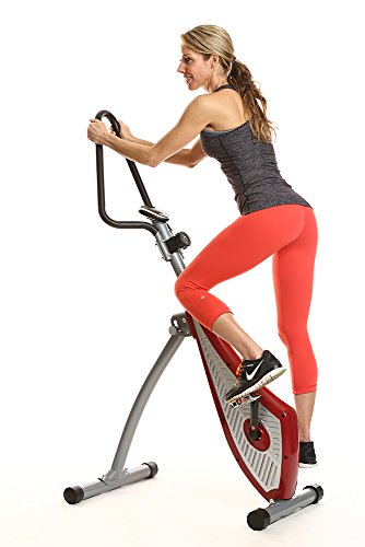 Vertical Spin Trainer: Unique New Spin Bike That Combines An Elliptical & Stepper In One Machine. Features 3 Degrees Of Activation That Works Your Abs, Core, Buns Hips & Thighs.
