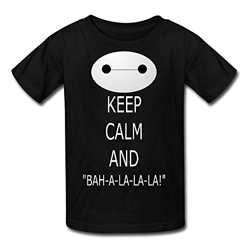 Kid's 100% Cotton Keep Calm And I M Baymax Cool T-Shirt