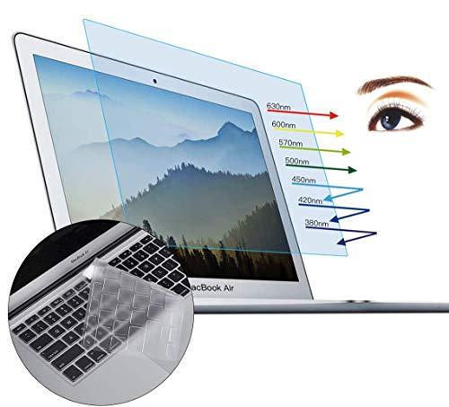 محافظ صفحه نمایش CaseBuy MacBook Air 13 اینچ - محافظ صفحه نمایشگر ضد تابش خیره کننده نور لامپ برای 2015 یا MacBook Air قدیمی تر 13 اینچ مدل A1369 و A1466 Keyboard Cover Cover Ultra Thin TPU محافظ