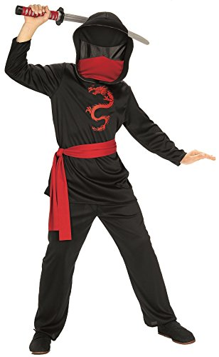 [Rubies Masked Ninja Child Costume, Medium] (Ninja Dragon Costumes)