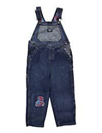 """OshKosh Little Boys' Toddler """"Patched Up"""" Flannel-Lined Overalls"""