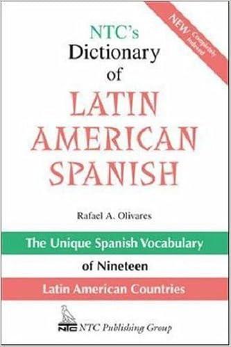 Book NTC's Dictionary of Latin American Spanish