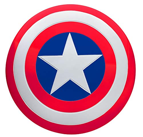 SUIT YOURSELF Captain America Shield for Adults, Measures 24 Inches Diameter, Plastic Prop Has Adjustable Hand ()