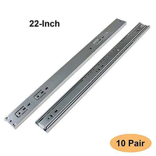 Gobrico Ball Bearing Kitchen Drawer Slides Full Extension Heavy Duty Soft  Close 22 Inch Glides Runners