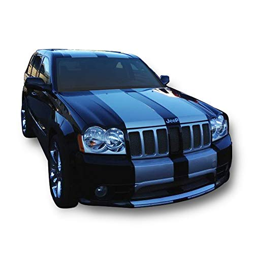 (Bubbles Designs Decal Graphic Sticker Stripe Body Kit Compatible with Jeep Grand Cherokee WK SRT)