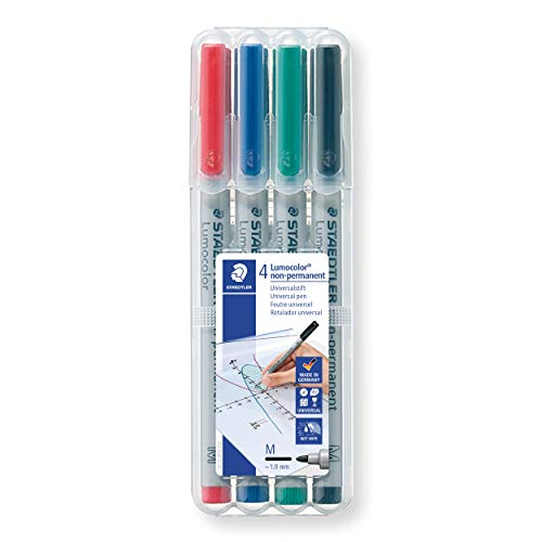 Staedtler Universal Pen Lumocolor Non-p M 4 Piece (315 WP4)