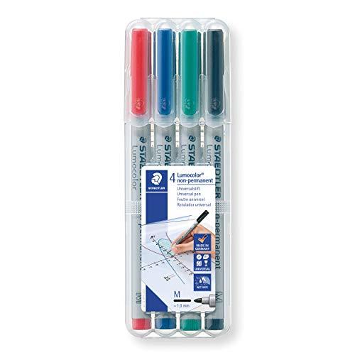 5 x STAEDTLER Folienstift Lumocolor correctable korrigierbar 305 M-3 blau NEU