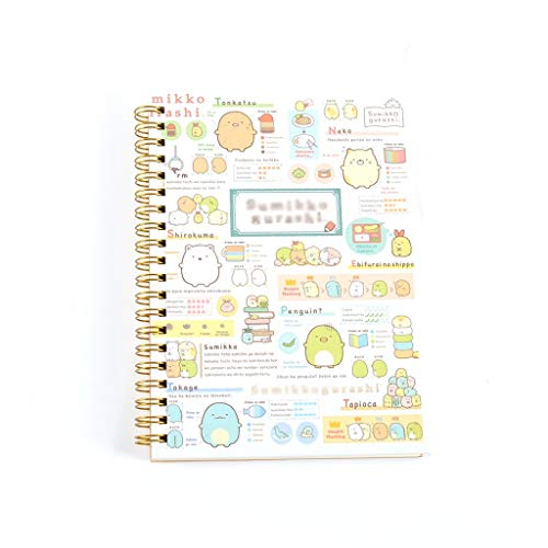 Creative Pocket with Divider Notebook Photo Album Travel Watercolor Blank Lined Spiral Coil Notebook Plan Notebook (Color : E, Size : -