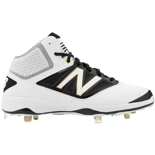 New Balance - Zapatillas de béisbol de piel para hombre blanco blanco/negro