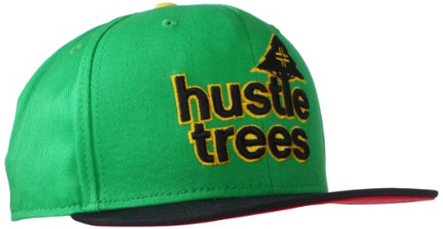 - LRG Men's Hustle Trees Logo Flat Bill Snapback Hat, One Size, Kelly Green