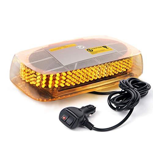 (Aurelio Tech LEPAZA66044 TCBunny 240 LED Light Bar Roof Top Emergency Hazard Warning Flash Strobe Yellow Amber)