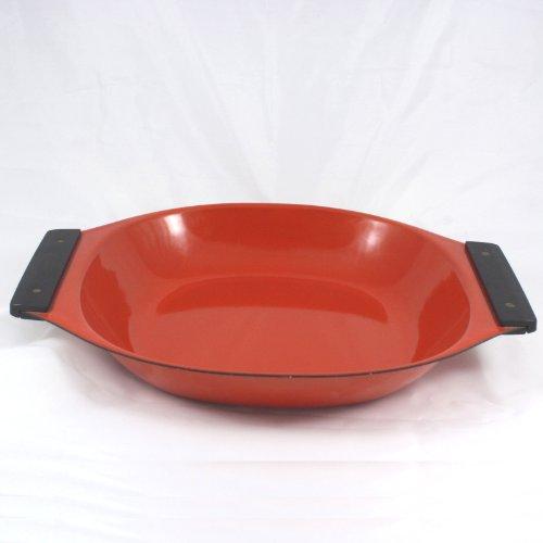 Cathrineholm Tivoli Paella Pan, Tray, Bowl, Orange, Enamel on Steel, Holland