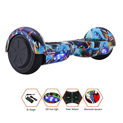 CXM Self-Balancing Hoverboard UL2272 Certified 6.5-inch Wheeled Bluetooth Two-Wheeled Electric Hoverboard for Adults and Children