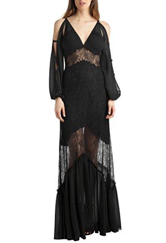 Damen Long Bdba Kleid Black Dress Aqqxz4pd