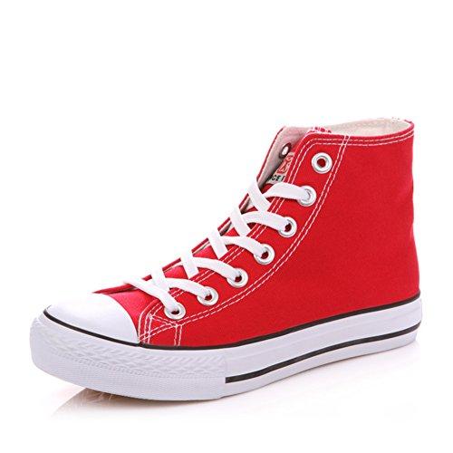 Zapatos de plana Alta lona casuales del zapatos clásica verano A mujer Zapatos de estudiante rCrfdwq