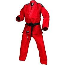 Red Kids Gi Uniform Set by KO Sports Gear – 100% Cotton Pearl Weave Gi - KOmpetition Series - BJJ Jiu Jitsu Kimono and Pants