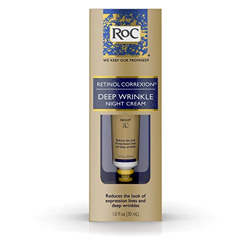 RoC Retinol Correxion Deep Wrinkle Anti-Aging Retinol Night Cream, Oil-Free and Non-Comedogenic, 1 oz