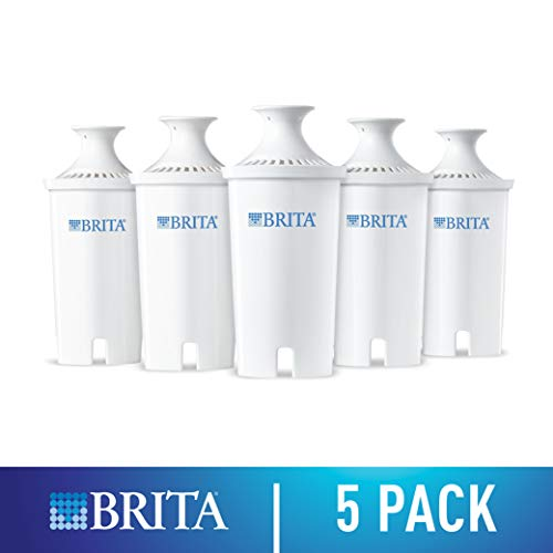 Brita Water Filter Pitcher Advanced Replacement Filters, 5 Count
