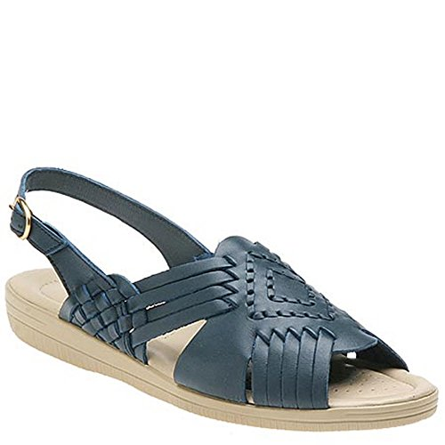 Women's Soft Spots, Tela Sandal Blue 7 WW