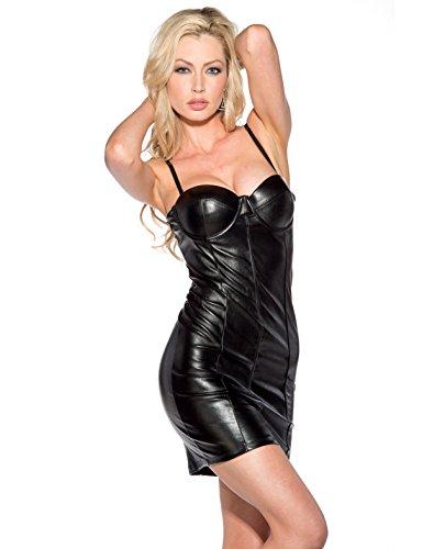 Spaghetti Strap w/Molded Cups Dress Black SM