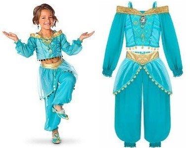Disney Princess Jasmine Girls Costume Dress up Halloween 2pc Size XS (4) (Princess Jasmine Costume For Kids)