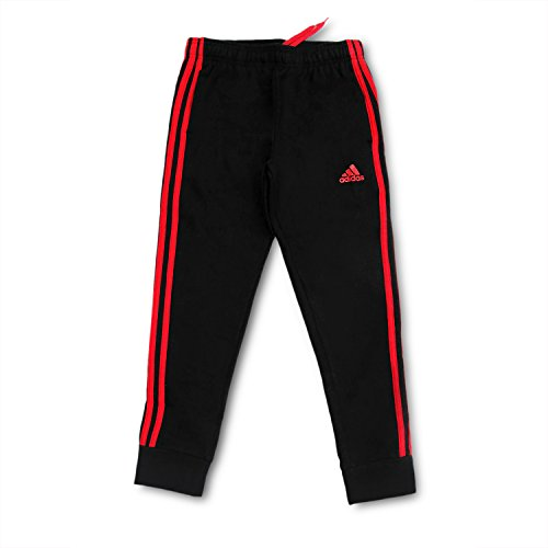 Outerstuff adidas Youth Fleece Collection (Youth Xlarge 18/20, Tapered Hem Sweatpants, Black/Scarlet) by Outerstuff