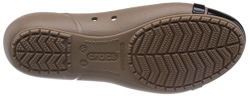 Women's Cap Crocs Black Flat Latte Toe 1vqRwqS
