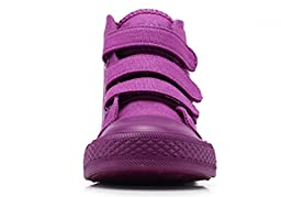 iDuoDuo Kids Classic School Board Shoes Casual High Top Basketball Sneakers Purple 9 M US Toddler