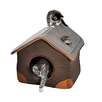 CAMA CASA FORRO EXTRASUAVE PARA GATO 40x33x44 CM: Amazon.es: Productos para mascotas