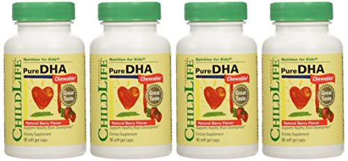 Child Life - Pure DHA Soft Gel Capsules - 4 pack of 90-count bottles