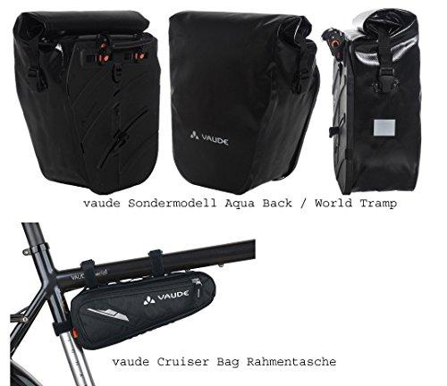vaude Aqua Back Radtaschen Sondermodell (1 Paar) - Farbe black + vaude Rahmentasche SE Cruiser Bag