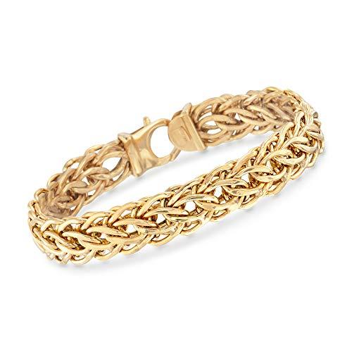 Ross-Simons Italian 14kt Yellow Gold Cestina Link Bracelet ()