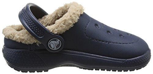 crocs Colorlite Lined Clog Kids Unisex-Kinder Clogs & Pantoletten Blau (Navy/Tumbleweed)