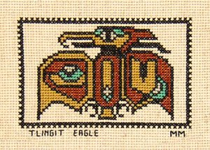 Tlingit Eagle Counted Cross Stitch Pattern