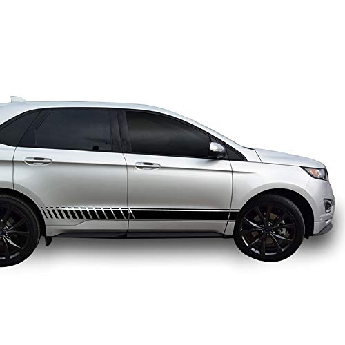 Bubbles Designs Decal Sticker Vinyl Side Racing Stripes Compatible with Ford Edge 2015-2017 (Black)